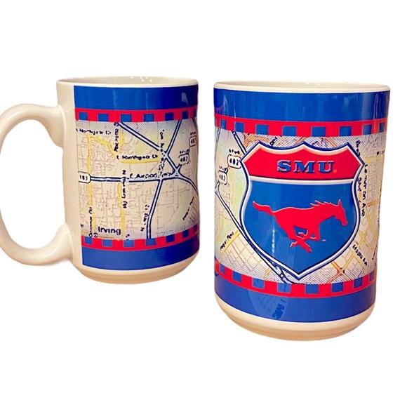 Vintage 90's SMU College Coffee Mug Set of 2